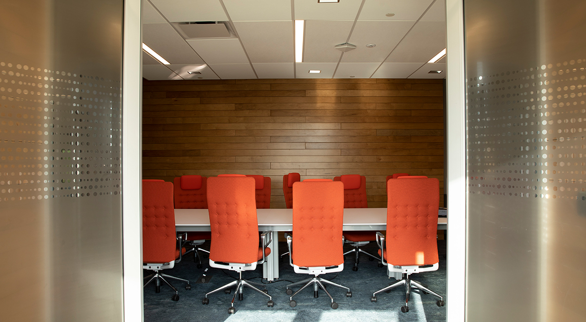 Extensive conference facilities allow you to flex your office's footprint as needed.