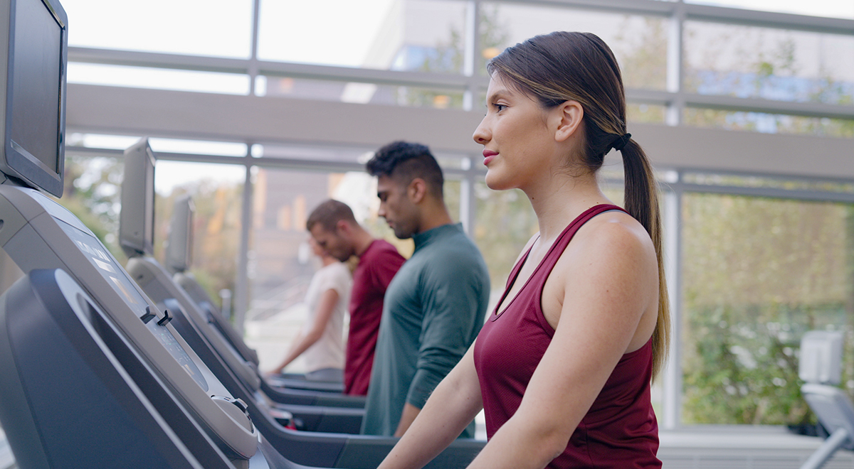 Even on your indoor workouts, you'll be surrounded by greenery.