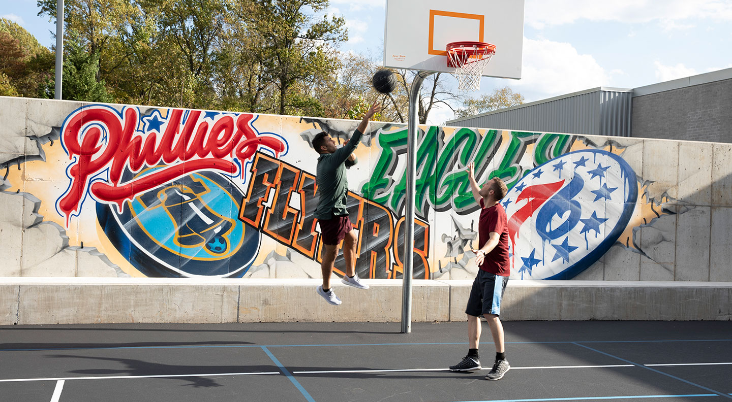Our basketball court is just the beginning of Arborcrest's outdoor offering.
